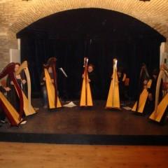 ARPOPOLI,  Arpe Celtiche della SMP suonano all'alba Domenica 27 Luglio alla Nuova Brocca