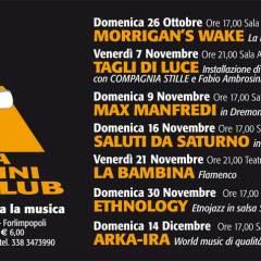 SALA ARAMINI FOLK CLUB 2014/2015 Le prime anticipazioni sulla nuova stagione di concerti