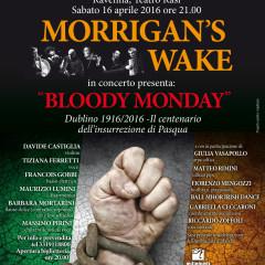 """16 Aprile 2016 – I Morrigan's Wake presentano lo spettacolo """"Bloody Sunday"""" al Teatro Rasi di Ravenna"""
