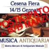 14|15 gennaio 2017  C'ERA UNA VOLTA… ANTIQUARIATO Cesena presenta  🎶 L' ANTIQUARIATO MUSICALE 🎵 🎵