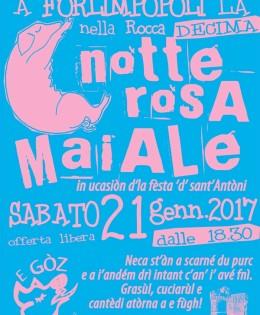 21 Gennaio 2017 – La NOTTE ROSA MAIALE 2017 – 10° Edizione