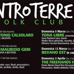 GENNAIO/APRILE 2017 la nuova programmazione dell'ENTROTERRE FOLK CLUB