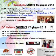 16 17 Giugno 2018 A Brisighella la Festa della Pace