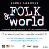 Torna il PREMIO NAZIONALE FOLK & WORLD 2019 Scadenza 10 Giugno 2019