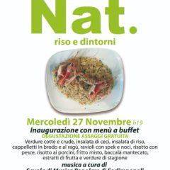 Mercoledì 27 Novembre A Forlimpopoli l'inaugurazione di Nat. riso e dintorni con Buffet e Musica