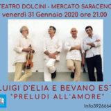 31/01/2020 Luigi D'Elia e i Bevano Est in Preludi all'amore a Mercato Saraceno