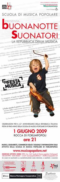 ULTIM'ORA – BUONANOTTE SUONATORI 2009 RIMANDATA A DOMANI 2 GIUGNO