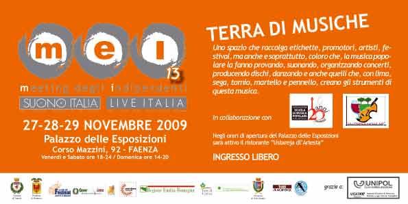 LA SCUOLA DI MUSICA POPOLARE AL MEI – MEETING DEGLI INDIPENDENTI 2009