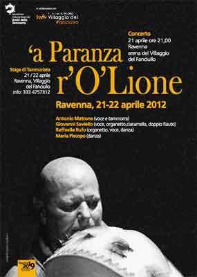 'a Paranza r'O'Lione – a Ravenna – Stage e concerto