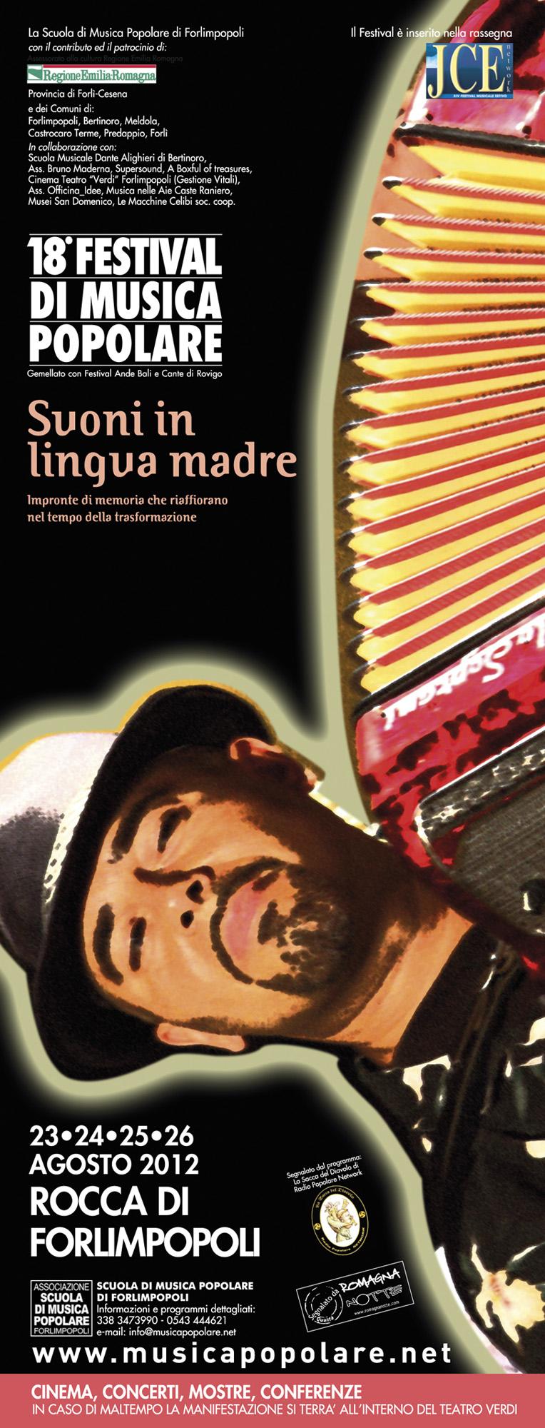 SUONI IN LINGUA MADRE – 18° FESTIVAL DI MUSICA POPOLARE DI FORLIMPOPOLI