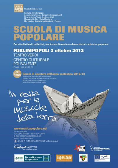 3 OTTOBRE 2012 – SERATA DI APERTURA DELL SCUOLA DI MUSICA POPOLARE DI FORLIMPOPOLI
