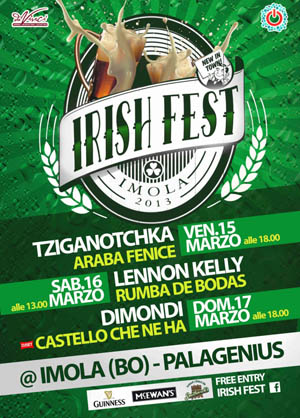Imola in verde.  Irish Fest a Imola