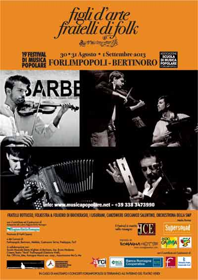 19° Festival di Musica Popolare di Forlimpopoli – Figli d'arte, Fratelli di Folk