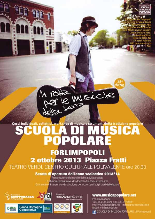 2 OTTOBRE 2013, RIAPRE LA SCUOLA DI MUSICA POPOLARE