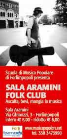 SALA ARAMINI FOLK CLUB La stagione continua con la programmazione Gennaio – Maggio 2014
